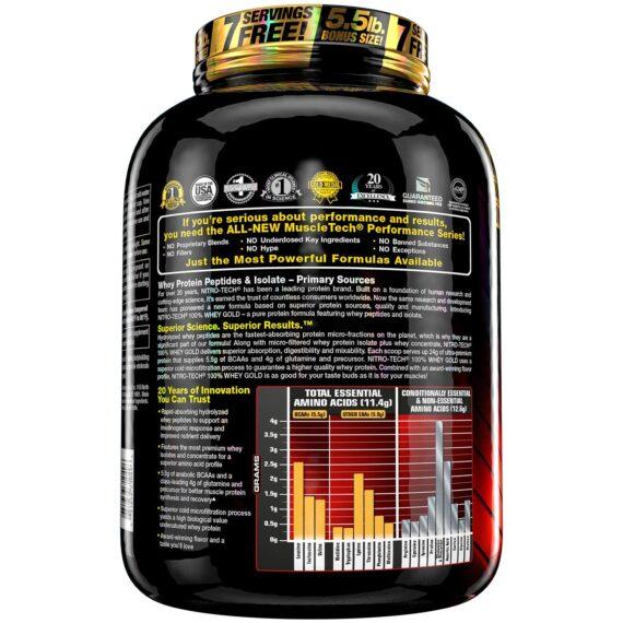 Nitro-Tech Whey Gold - 5.54 Lbs in Pakistan By MuscleTech